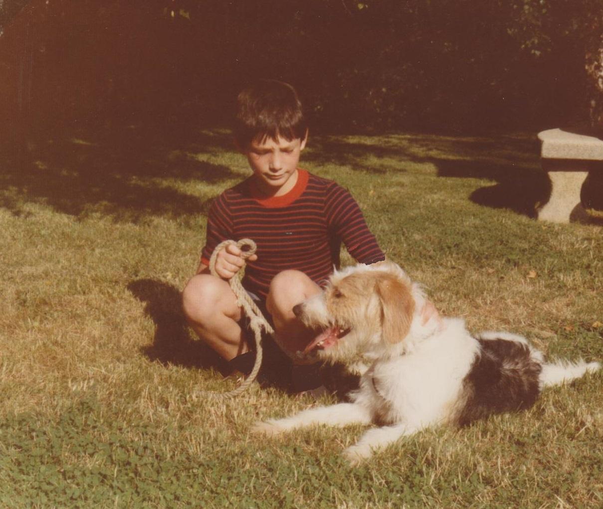 A 12 ans avec mon chien...