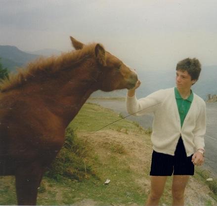 Moi à 16 ans avec un cheval.